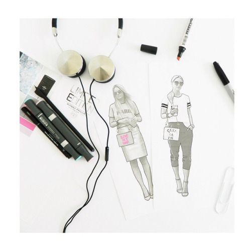 Sketching and drawing ideas for an upcoming range of clutch bags :-) <3