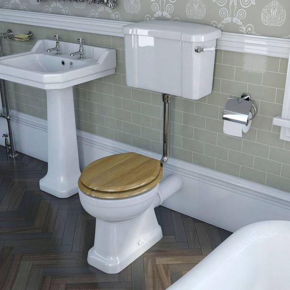 camberley low level toilet inc luxury solid oak seat victoria plumb camberley oak 2 door
