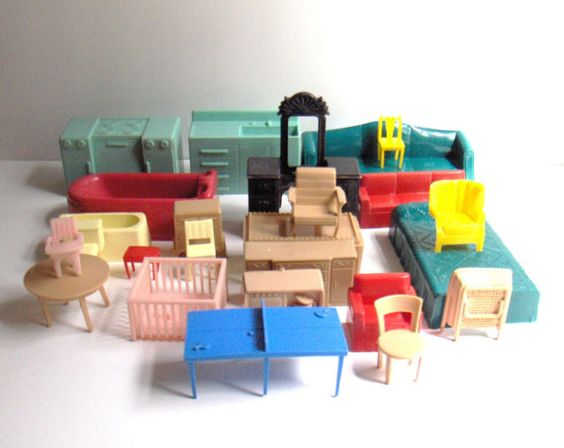 Vintage Plastic Dollhouse Furniture Things I Collect Pinterest Plastic Dollhouse