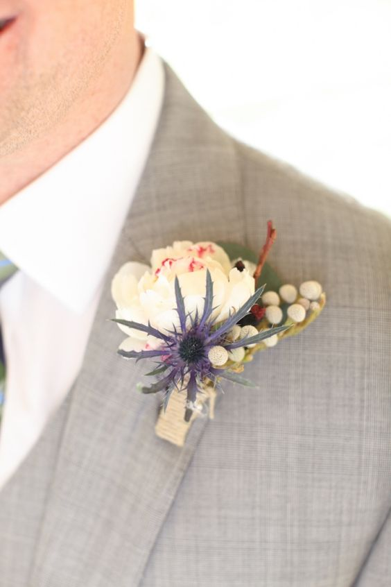 boutonnieres by Dirt Flowers Design