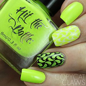 "COMING SOON Hit the Bottle ""Shazam Yellow"" Neon Stamping Polish"