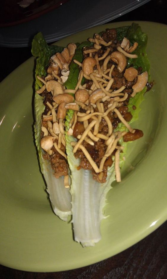 In Case You're Wondering...: Per Popular Request...ASIAN LETTUCE WRAPS.
