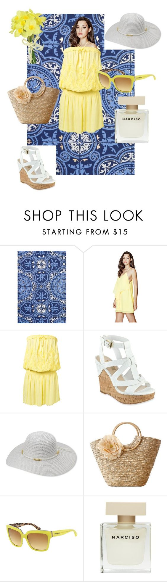 """Untitled #80"" by liiiilylove ❤ liked on Polyvore featuring Cole & Son, GUESS, Melissa Odabash, Dolce&Gabbana, Narciso Rodriguez and Pavilion Broadway"