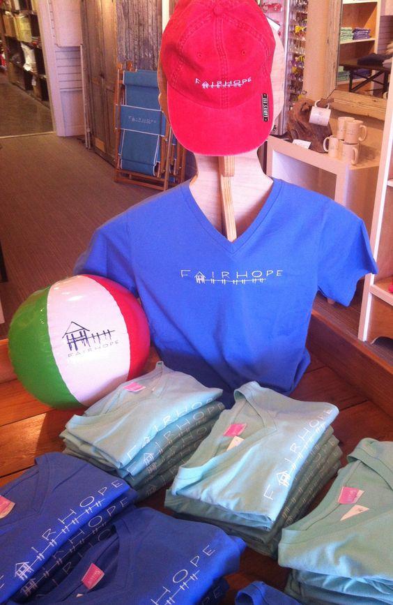 Summer 2014. #TheFairhopeStore Ladies v-necks, beachballs, and baseball caps!