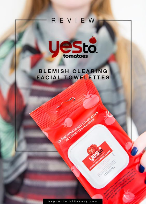 Yes to Tomatoes blemish clearing facial towlettes review