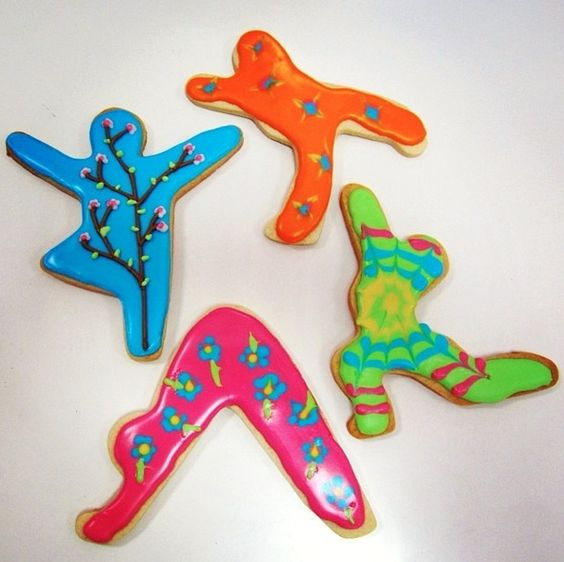 yoga shaped cookie cutters - Google Search