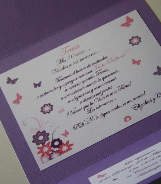 Participaciones invitaciones cumpleanos adultos 15164 - Ideas para cumpleanos adultos ...