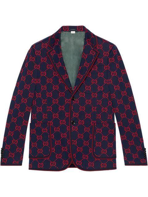 Gucci Veste élégante En Jersey Gg Farfetch Veste Vestes élégantes Tenue Vintage