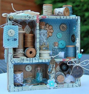 A few days, when I was shopping, I bought something like this. Now I'm looking what I must put in it. It won't be something like this, but I think it's very creative!