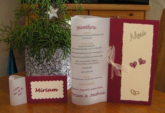 Hochzeitsdeko - Tischkarte in Herzform WUNSCHDESIGN - ein Designerstück von Bastelkoenigin-de bei DaWanda