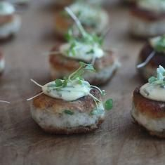 Smoked Fish Cakes With Corn Tartar Sauce | APPE-TEASERS | Pinterest ...
