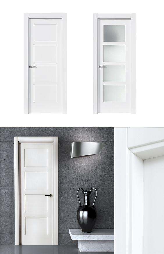puerta de interior blanca modelo bosco de la serie