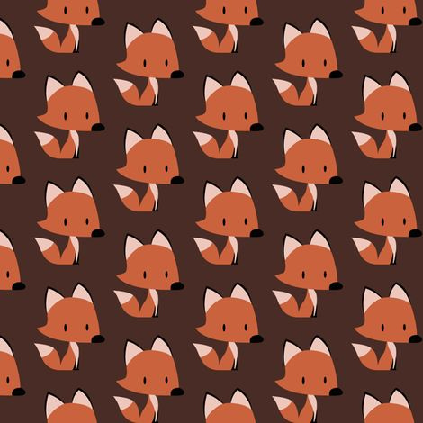 Red fox fabric by petitspixels on spoonflower custom for Fox print fabric