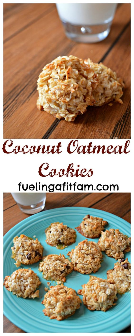 These Coconut Oatmeal Cookies are easy to make, have simple ingredients, and are of course delicious...and all with no refined sugars!