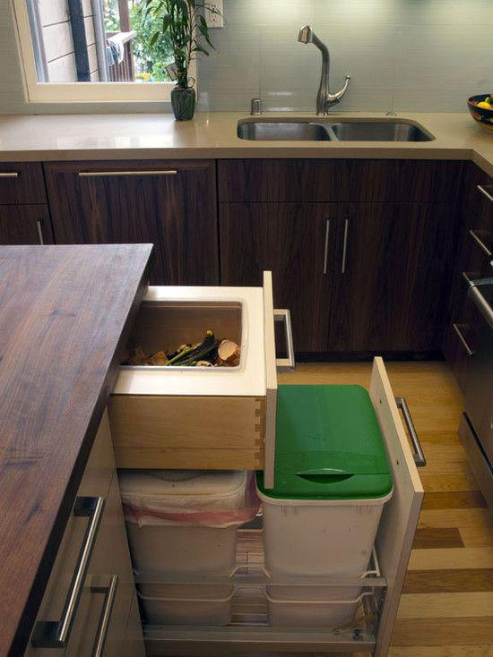 kitchen compost drawer