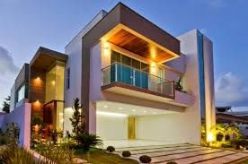 Resultado de imagem para fachadas de casas modernas com sacadas