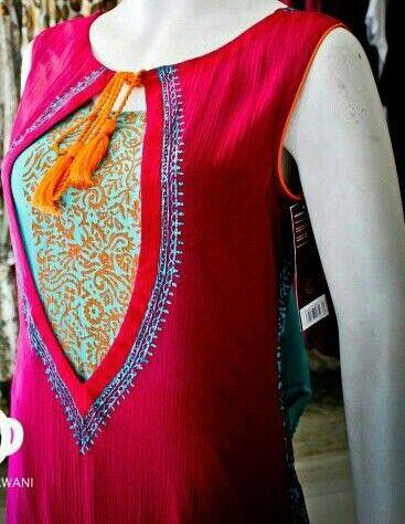 Simple Salwar Kameez 2015 Punjabi Kurti Suit Neck Designs  2015 Dresses