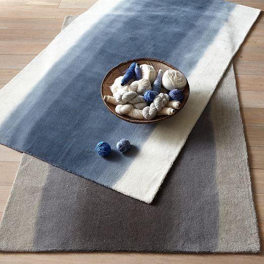 Ombre Dye Wool Rug - Midnight from Picsity.com #rug #home #livingroom #beddingroom #wool #design