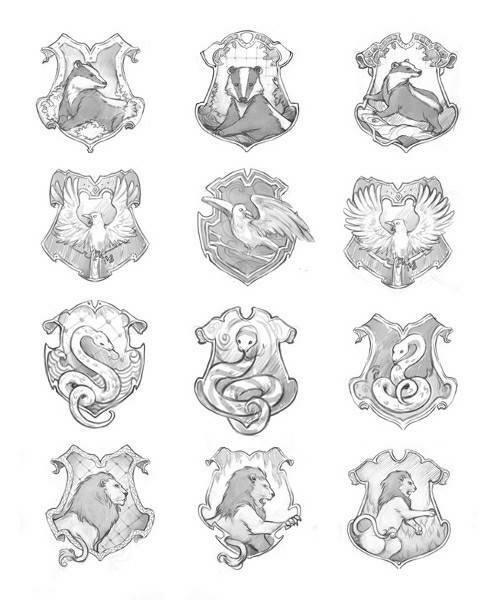 Die Vier Hauser Check More At Https Harrypotter Neujahr Ga 2019 07 30 Die Vier Hauser Harry Potter Tattoos Bleistiftzeichnung Kunstzeichnungen