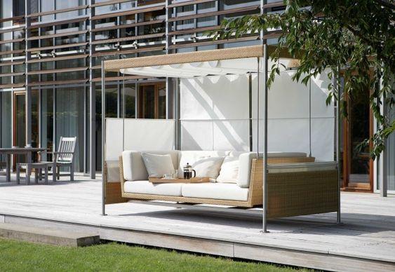 Hollywoodschaukel design  18 modern garden swing design for garden and terrace | Cool Ideas ...