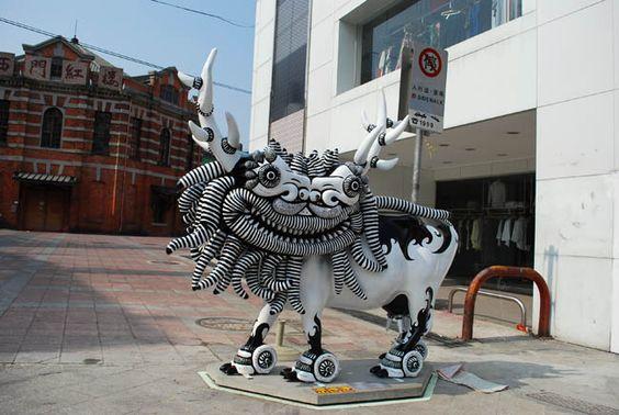 西門紅樓前的藝術創作牛 @ My Photo Life :: 隨意窩 Xuite日誌