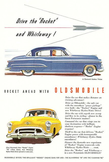 I love the Rocket theme from the old Olds ads...