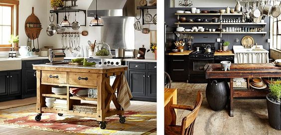Islas r sticas de madera car cter en tu cocina mesas - Mesas cocina rusticas ...