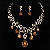 Fascinating Alloy With Rhinestone Jewely Set ... – USD $ 36.99