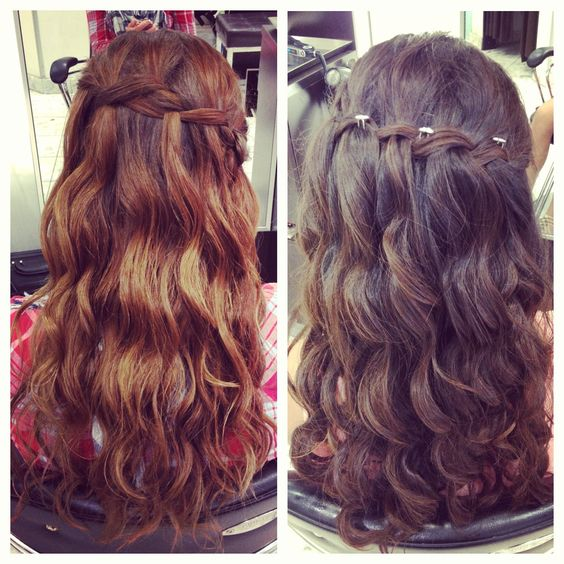 www.MonStyleFile.com waterfall braid hair updo