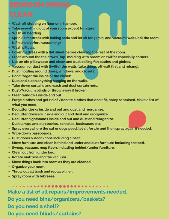 Bedroom Spring Cleaning Checklist For My Teens Clean