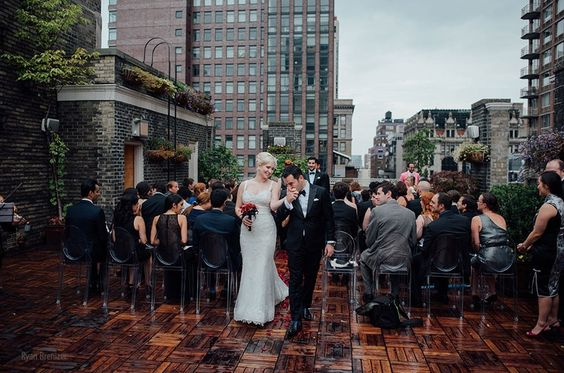 Midtown Loft And Terrace All Dressed In White Pinterest Rooftop Wedding