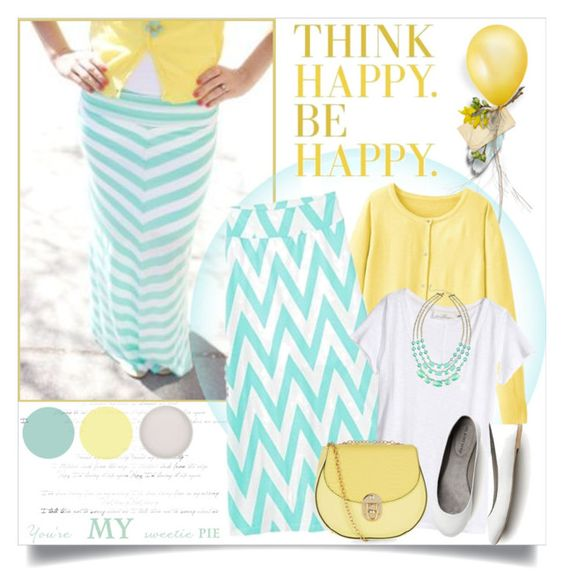 """""""Think Happy, Be Happy!"""" by brendariley-1 ❤ liked on Polyvore featuring RyuRyu, Amy Byer, H&M and Love Struck"""
