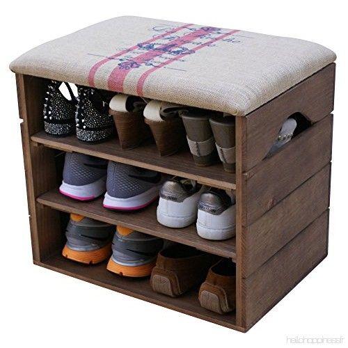 Liza Line Meuble Chaussures Marron Noyer Banc De Rangement Pour Chaussures Avec Etageres Assise Confortabl Wooden Shoe Organizer Wooden Shoe Racks Shoe Rack