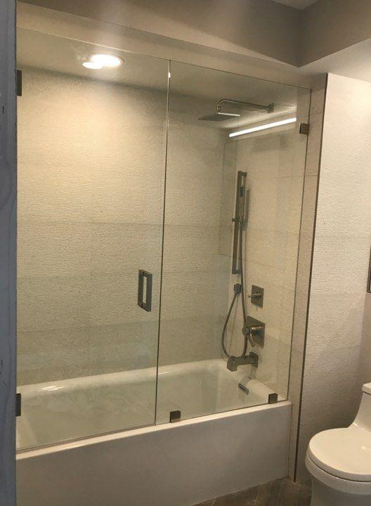 Bathub Glass Frameless Doors Puertas De Cristal Sin Marco