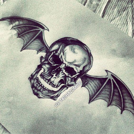 Original Deathbat Drawing (Instagram: @t4shaz0mbie) - Avenged Sevenfold