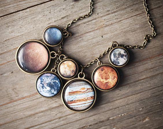 Sonnensystem Halskette Raum Schmuck Anweisung von BeautySpot