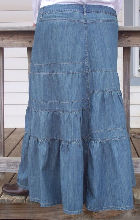 Long Denim Skirts | plus size denim skirt for women wanting