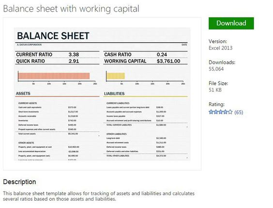 Balance sheet template from MS Excel Pinterest Balance sheet - opening balance sheet template