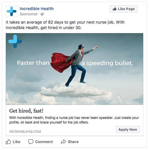 Facebook advertisement mockup
