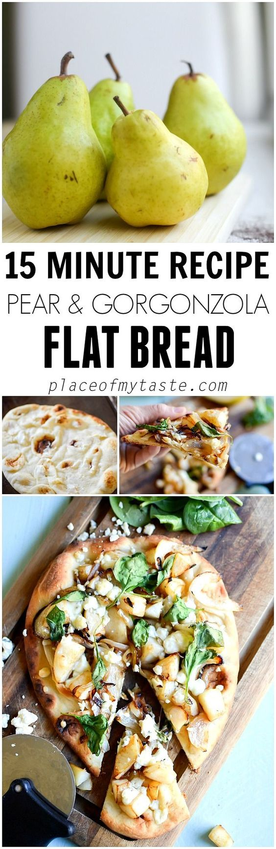 This flat bread has the most amazing flavors and it's done in 15 minutes!!