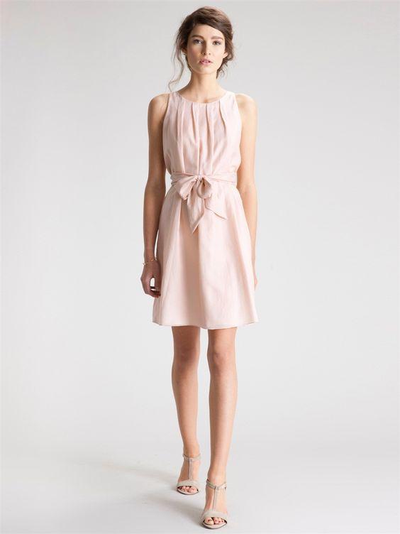robe coton et soie rose poudr cyrillus belle en rose pinterest mariage cheveux et roses. Black Bedroom Furniture Sets. Home Design Ideas