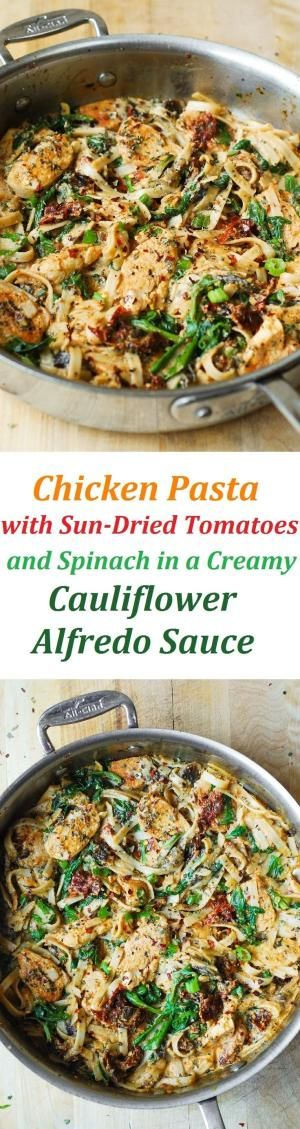 Cauliflower sauce, Chicken pasta and Creamy cauliflower sauce on ...