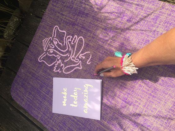 Mit Ganesha auf die Yogamatte. www.herzteil.de  #yoga #herzteil #ganesha #handpainted #design #yogalove #yogalifestyle
