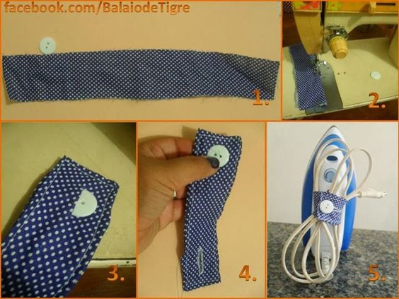 Old But Gold DIY: Keep cables organized with this simple tip! From Balaio de Tigre Artesanato, Brazilian blog!