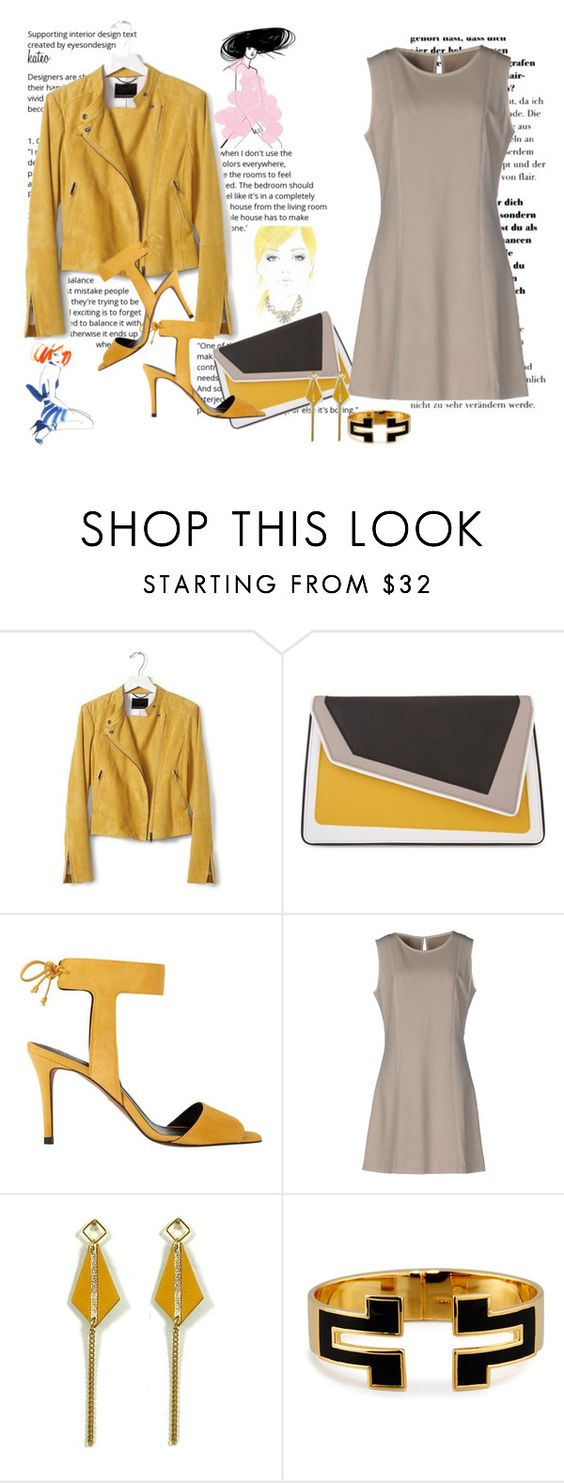 """""""Mustard . Taupe . Black"""" by kateo ❤ liked on Polyvore featuring Banana Republic, âme moi, Whistles, Circolo 1901, Atelier Maï Martin, Tory Burch and 5995"""