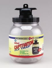 $10.45-$10.99 Farnam Home& Garden #14680 Captivator Fly Trap - Captivator Fly Trap, Reusable Fly Trap With Patented Feeding & Sex Attractant To Lure Flies, Holds 2 QT. http://www.amazon.com/dp/B000BQSF6E/?tag=pin2pet-20