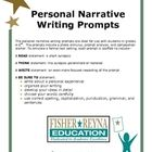 This set of 14 personal narrative writing prompts are ideal for use in 4-5th grades.  Each prompt includes a photo stimulus, Think, Write, and Be S...