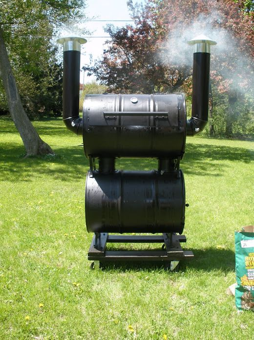 Built In Smoker Outdoor Kitchen: Barrel Smoker, Smokers And Double Barrel On Pinterest