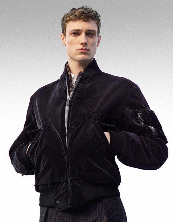 Elegant black velvet bomber jacket for men | Shop outerwear on Canali.com: