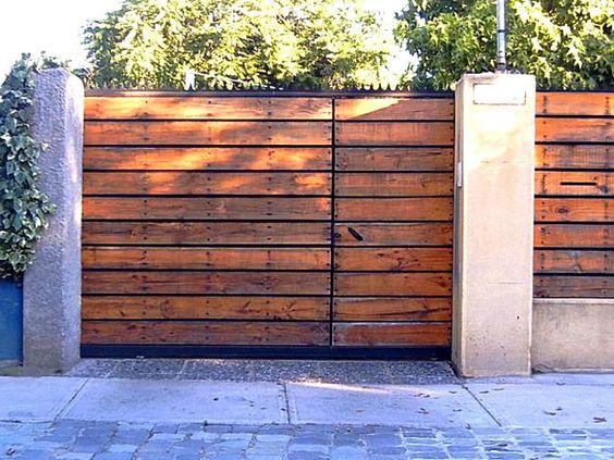 Portones porton madera horizontal jpg rustic pinterest for Portones de madera exterior